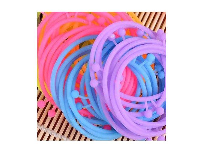 Silikónový náramok na ruku, rôzné farby, tykadlá, bižutéria