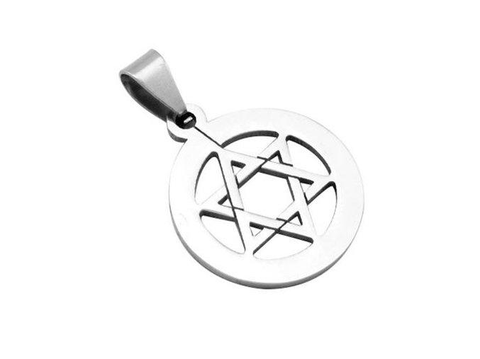 Prívesok pentagram z chirurgickej ocele, Dávidová hviezda