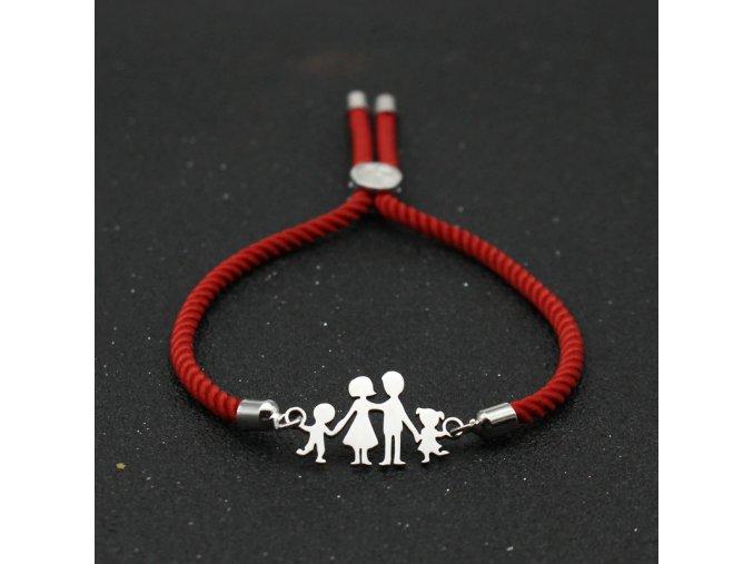 Červený náramok, rodina, mama, dcéra, syn, otec bižutéria (1)