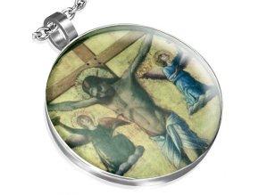 Medailón z chirurgickej ocele, Ježiš Kristus na kríži
