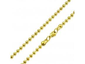 Guličková retiazka z chirurgickej ocele, zlatá farba - 3/550mm