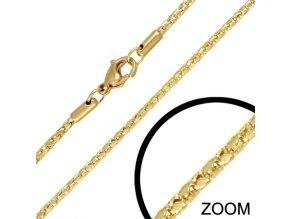 Retiazka na krk z chirurgickej ocele, zlatá farba -  2/450 mm