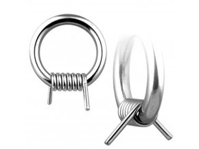 Piercing do bradavky z chirurgickej ocele, ostnatý drôt