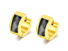 Náušnice pre ženu, akrylový kamienok čiernej farby, oceľ