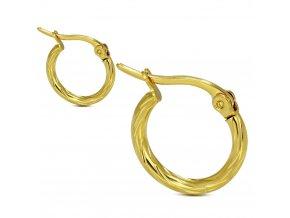 Náušnice kruhy, chirurgická oceľ, zlatá farba 10 mm