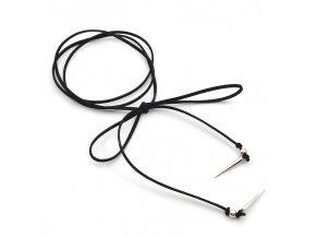 Dámsky náhrdelník choker, čierna zamatová šnúrka bižutéria