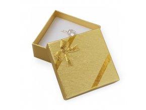Zlatisté darčekové balenie s lesklou mašľou na set šperkov