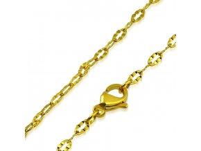 Jemná retiazka na krk z chirurgickej ocele, zlatá farba 2450 mm (1)