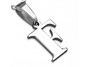 Písmenko F na retiazku, prívesok z chirurgickej ocele
