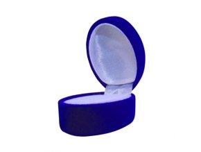 Zamatové darčekové balenie modrej farby na svadobné obručky