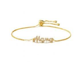 Dámsky náramok zlatej farby, nápis Mama bižutéria (1)