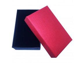 Darčekové balenie na sadu šperkov, červená a čierna farba