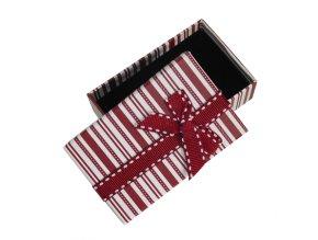 Krabička na sadu šperkov, biela a hnedá farba, mašľa
