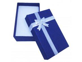 Darčeková krabička na sadu šperkov, stužka striebornej farby a mašľa