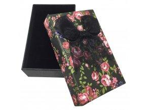 Ružičková darčeková krabička na sadu šperkov, mašľa