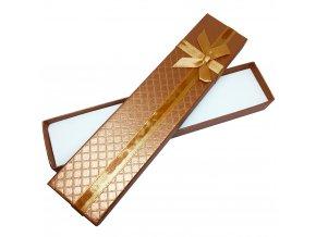 Darčeková krabička na náramok, oranžová farba a stužka