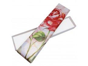 Saténová darčeková krabička na náramok, veľká ruža