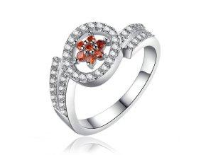 Zásnubný prsteň so zirkónmi, chirurgická oceľ, strieborná farba