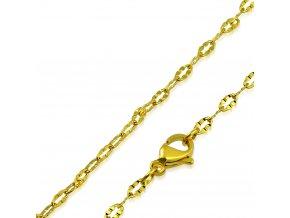 Jemná retiazka na krk z chirurgickej ocele, zlatá farba 2460 mm (1)