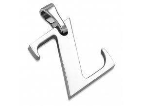 Písmenko Z na retiazku, prívesok z ocele striebornej farby (1)