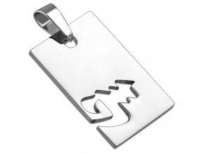 Prívesok známka z ocele striebornej farby, znamenie zverokruhu PANNA (1)