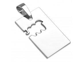 Prívesok známka z ocele striebornej farby, znamenie zverokruhu VODNÁR (1)