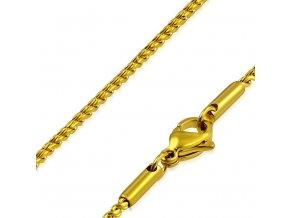 Retiazka z ocele, zlatá farba, vzor Spiga 1,5600 mm (1)
