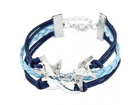 Multi náramok pre ženu, modrá farba, hrdličky - bižutéria