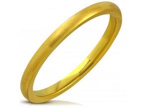 Obrúčka z chirurgickej ocele, matná zlatá farba 2 mm