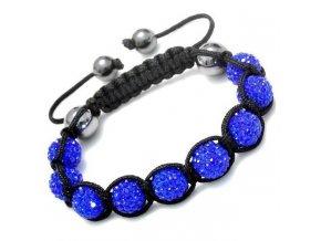 Kráľovsky modrý shamballa náramok na ruku, bižutéria