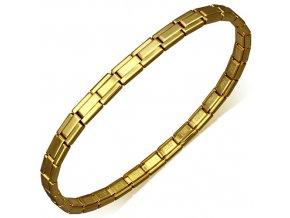 Náramok pre ženu zlatej farby z chirurgickej ocele