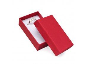 Darčeková krabička na sadu šperkov, červená farba