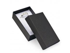 Darčeková krabička na sadu šperkov, čierna farba