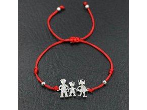 Červený náramok, rodina, mama, syn, otec, číre zirkóny bižutéria (1)