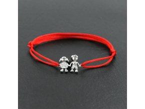 Červený náramok pre mamičku, dcéra a syn, číre zirkónmi bižutéria (1)