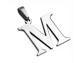 Písmenko M na retiazku, prívesok z chirurgickej ocele (1)