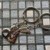 Kľúčenky pre dvoch, srdce a šíp, nápis LOVE YOU, zirkón01