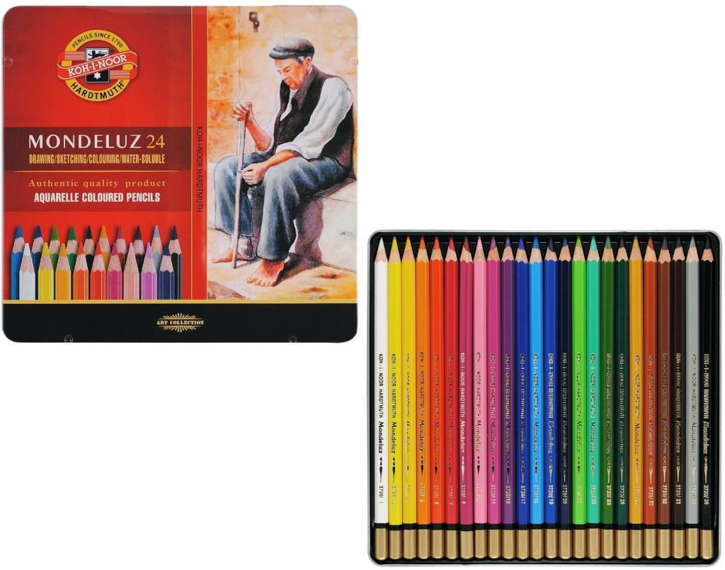 Umělecké akvarelové pastelky a progresa