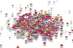 Papírové konfety a girlandy