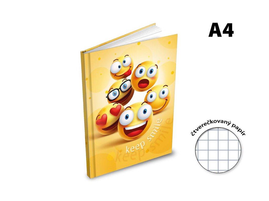 Záznamová kniha A4 MFP Smajlíci 100 listů čtvereček