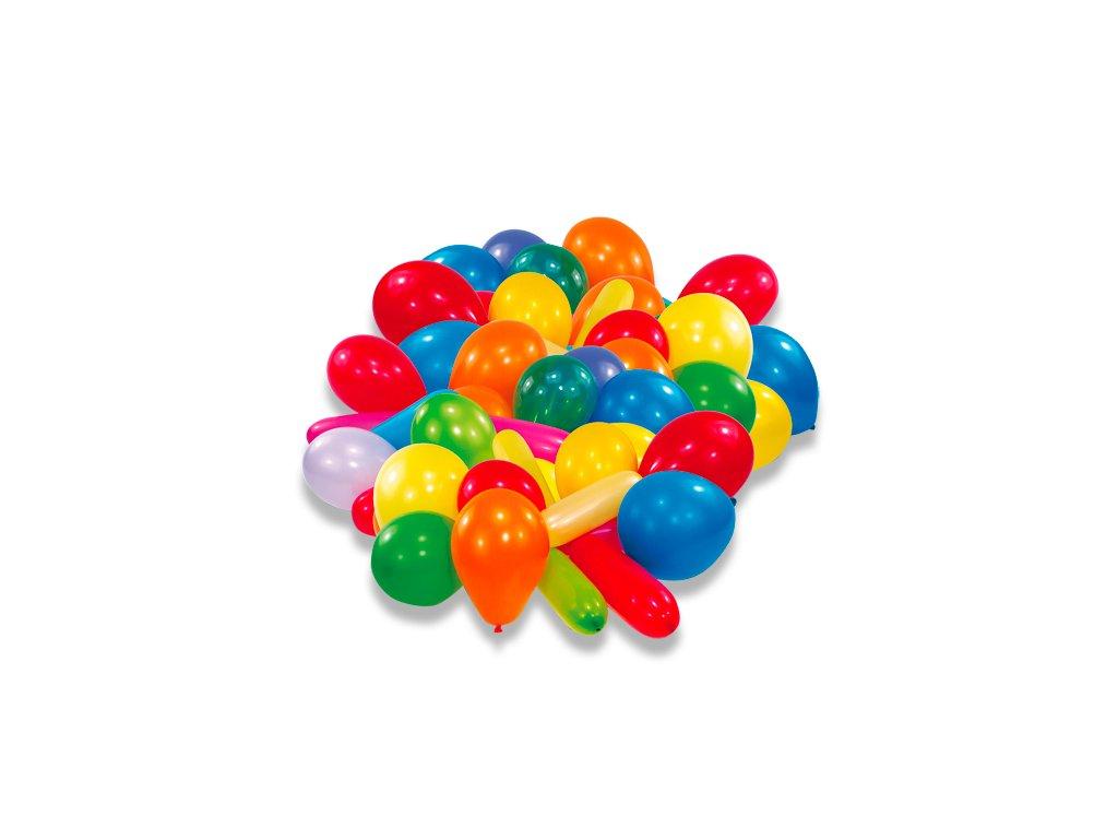 Nafukovací balónky, mix barev a tvarů 50 ks