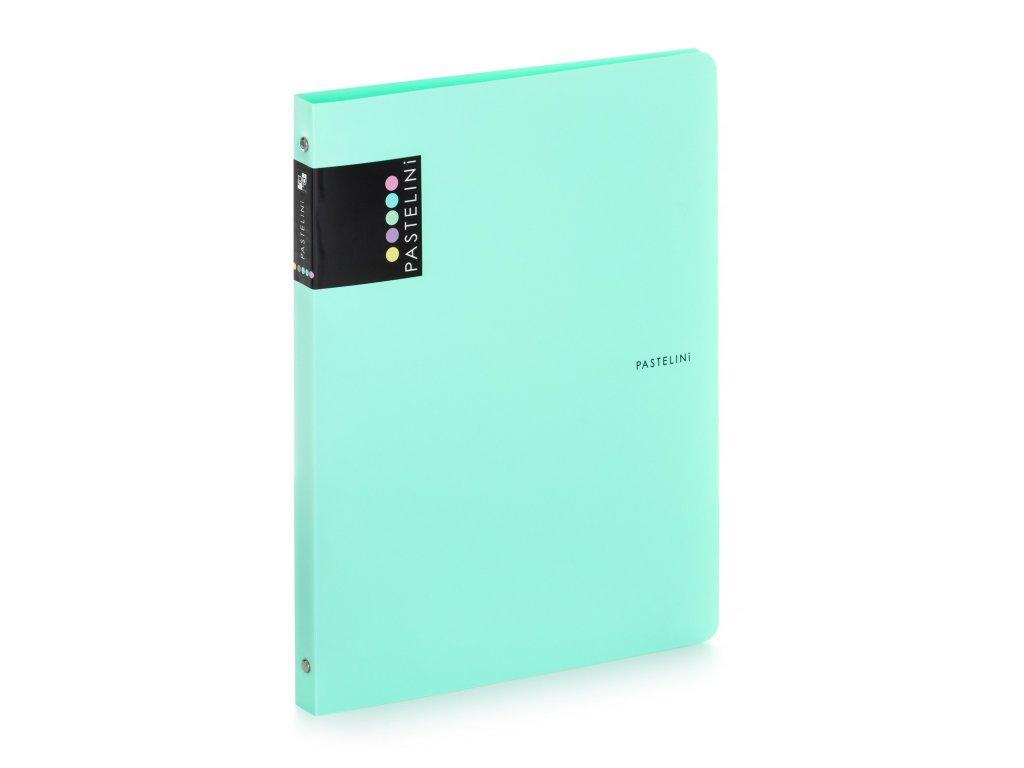 Čtyřkroužkový pořadač Pastelini Karton P+P - zelená