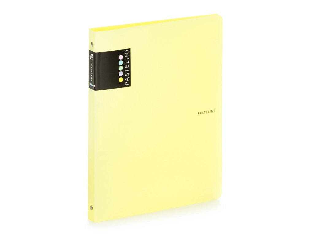 Čtyřkroužkový pořadač Pastelini Karton P+P - žlutá