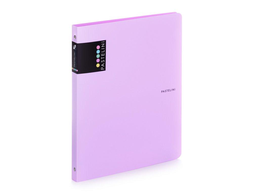 Čtyřkroužkový pořadač Pastelini Karton P+P - fialová