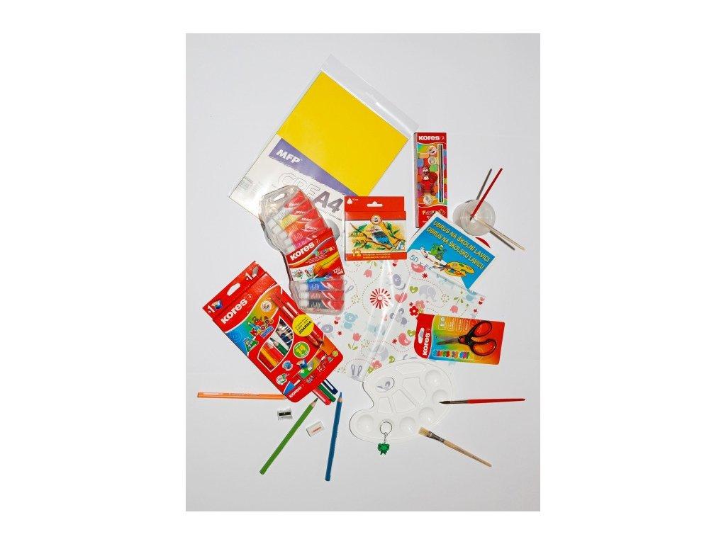 Balíček školních potřeb pro prvňáčka - výtvarka 1  + DÁREK ZDARMA -  Klíčenka