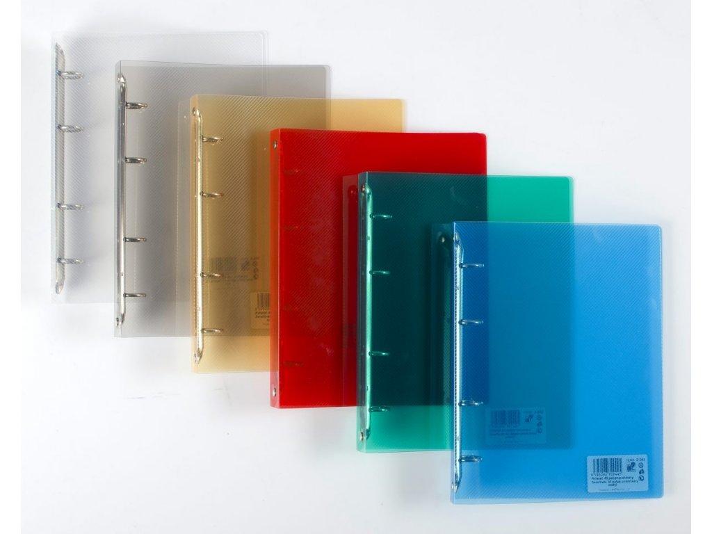 4kroužkový pořadač Transparent A5, hřbet 25 mm - mix motivů
