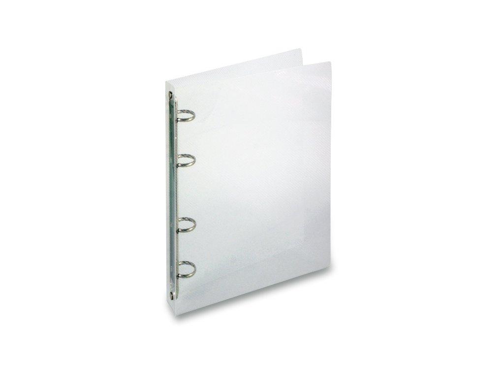 4kroužkový pořadač Transparent A5, hřbet 25 mm, transparentní