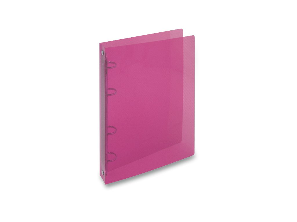 4koužkový pořadač Transparent, A4, hřbet 20 mm, červená