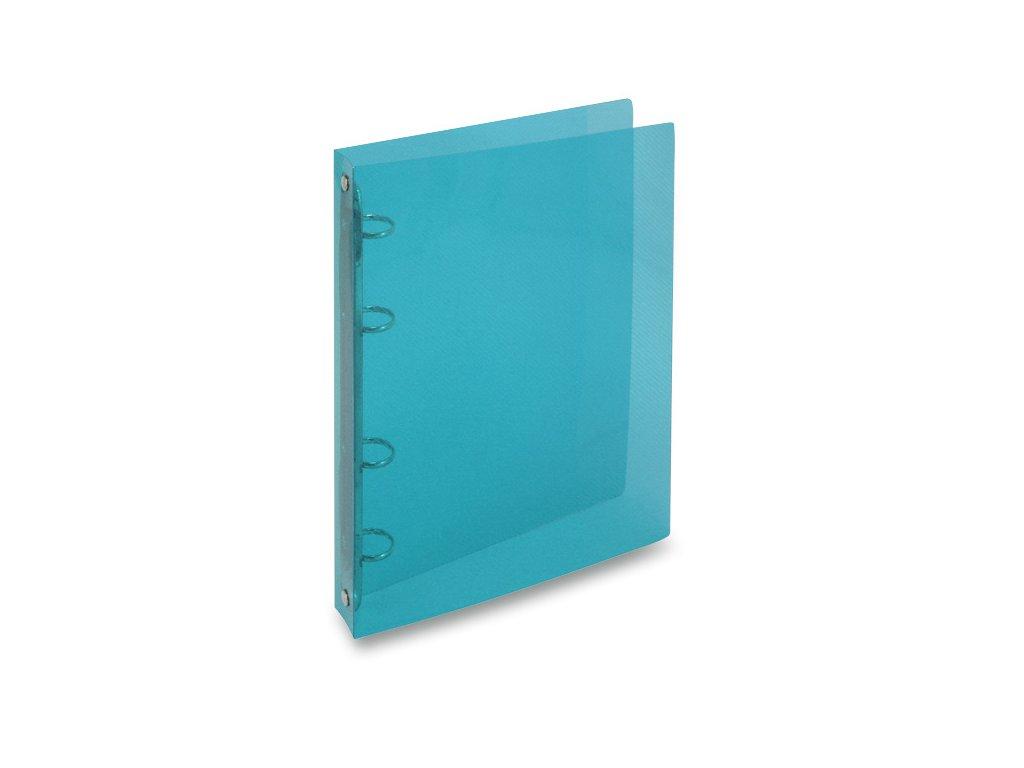 4koužkový pořadač Transparent, A4, hřbet 20 mm, modrá
