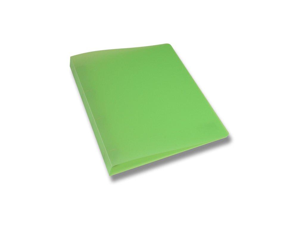 4kroužkový pořadač Opaline, A4, hřbet 35 mm, zelená